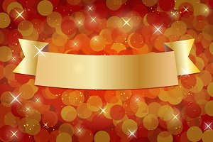 Gold and Red Holiday Banner.
