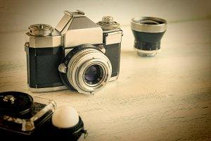Retro camera gear