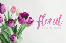 Floral - Flowers on White Photo Pack