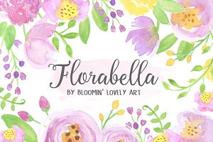 Watercolor Flower Clip Art - Flowers