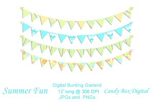 Summer Fun Digital Bunting