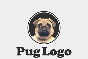 Pug Logo Template
