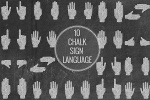 Chalk Sign Language