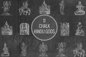 Chalk Hindu Gods