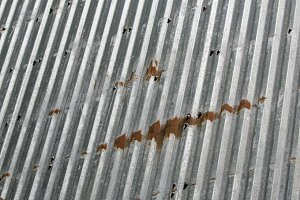 Corrugated metal sheeting