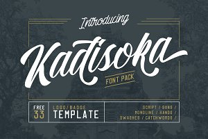 Kadisoka family 5 Fonts - 50% OFF