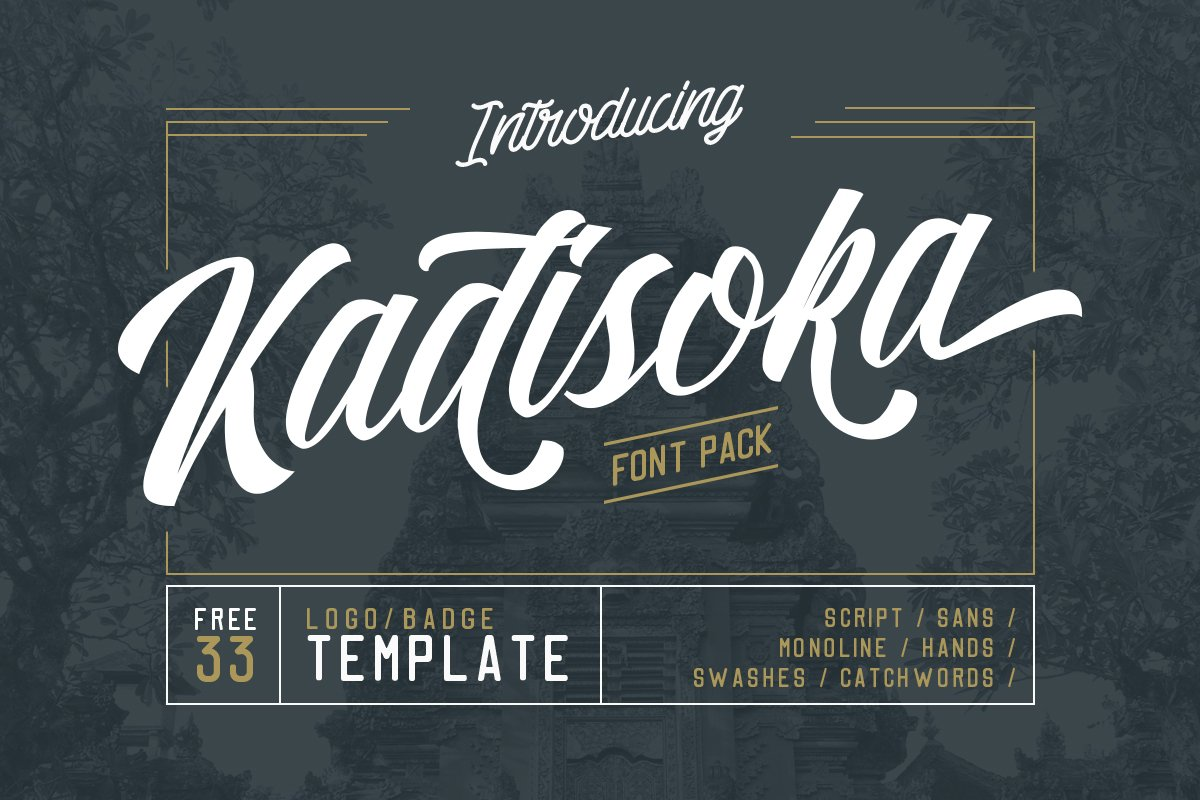 5498d4c6ced Kadisoka family 5 Fonts - 50% OFF ~ Script Fonts ~ Creative Market