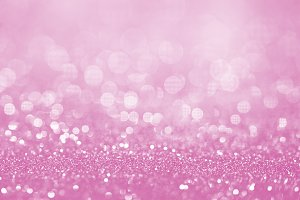 Pink glitter surface with pink light bokeh - It can be used for background for special occasions promotion campaign or product display