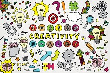 Creativity Clipart Illustrations Set