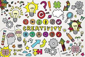Creativity Clipart Illustrations Set