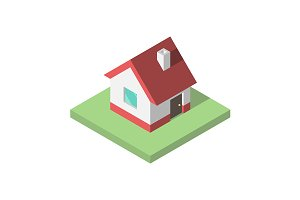 Beautiful small isometric house