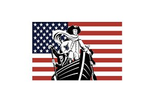 American Revolution Soldier Flag
