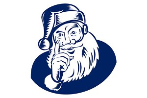 Santa Claus Pointing Finger