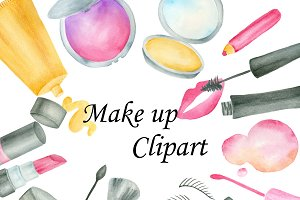 watercolor makeup objects