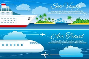 Summer travel banners