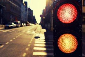 Traffic light. Riga