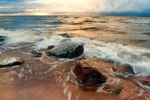 Baltic sea. Winter. November