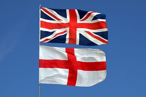 Union Jack and England flag