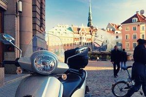 Scooter. Riga, Latvia