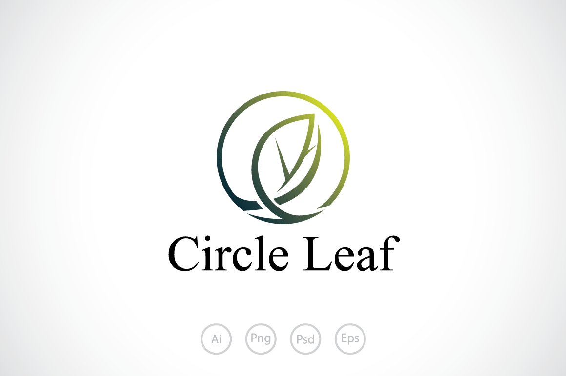 Circle Leaf Logo Template ~ Logo Templates ~ Creative Market
