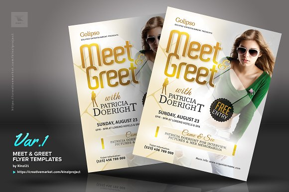 Meet Greet Flyer Templates Flyer Templates Creative Market