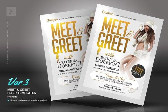 Meet Greet Flyer Templates Flyer Templates Creative Market - Meet and greet flyer template