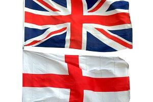 Union Jack and flag of England