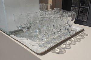 Many champagne glasses