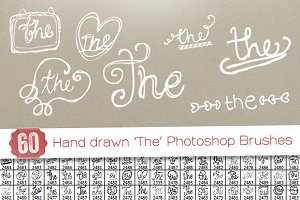 60 Hand drawn 'The' PS Brushes