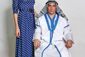 Arab and his wife