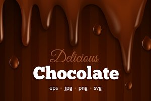 Melting Chocolate Vector Set