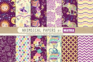 WHIMSICAL digital paper