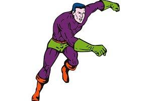 Cartoon Super Hero Punching