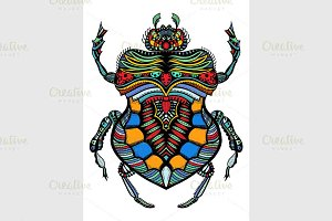 patterned vector bug