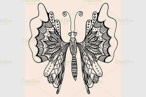 Amazing wonderland fly butterfly