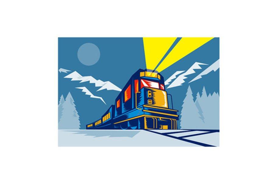 Diesel Train Locomotive Winter