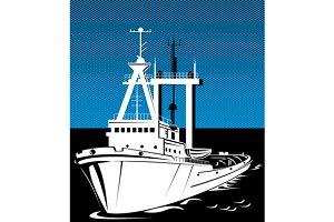 Tug Boat At Sea