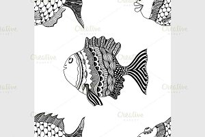 hand-drawn ornamental fish
