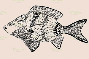 ornamental graphic fish.