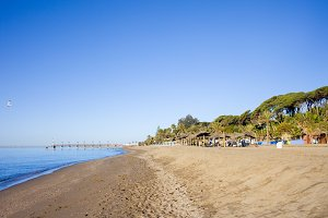 Beach on Costa del Sol in Marbella