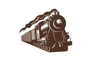 Vintage Steam  Train Locomotive