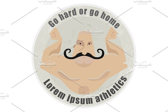 Bodybuilder torso. Vector - Illustrations