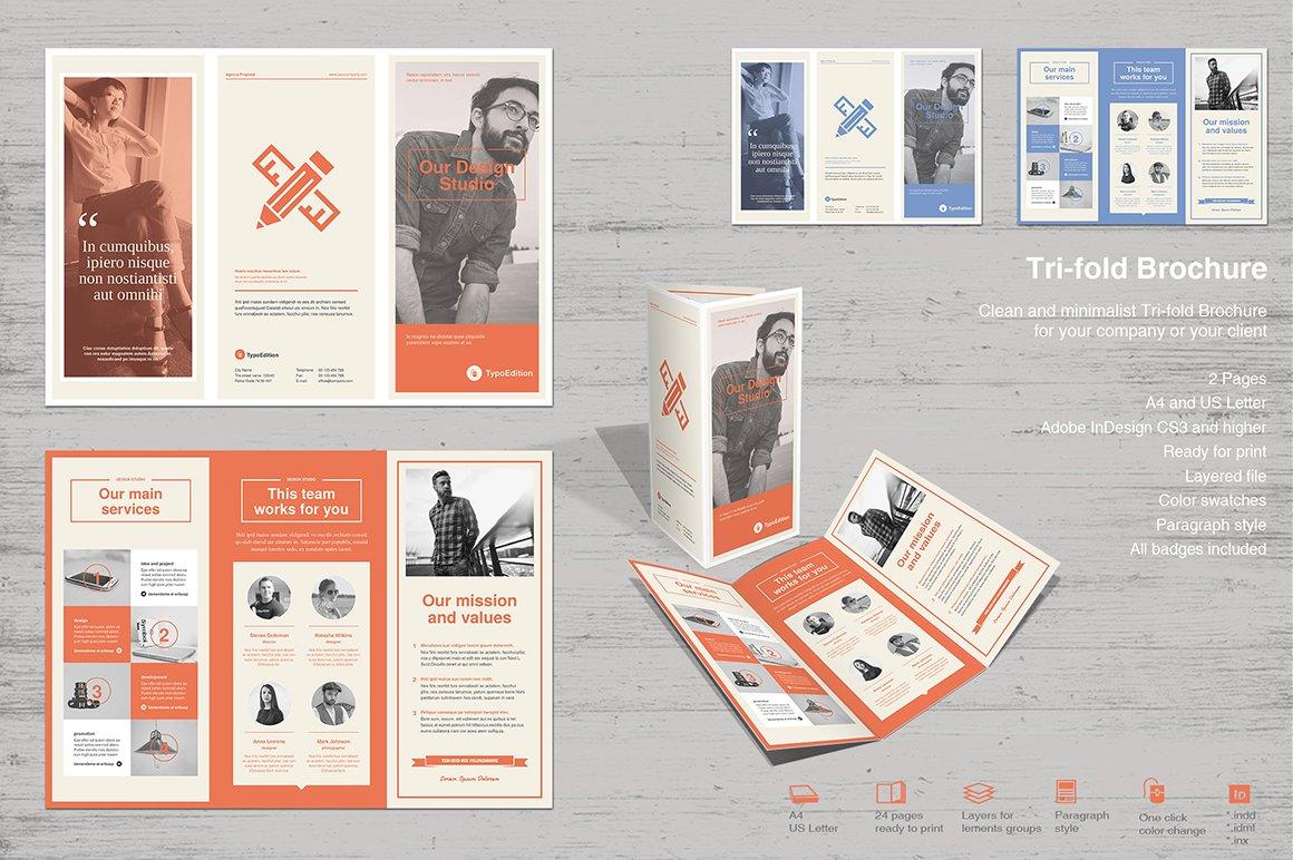TriFold Our Studio Brochure Templates Creative Market – Studio Brochure