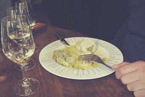 Wine en food tasting in France