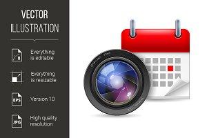 Camera lens and calendar