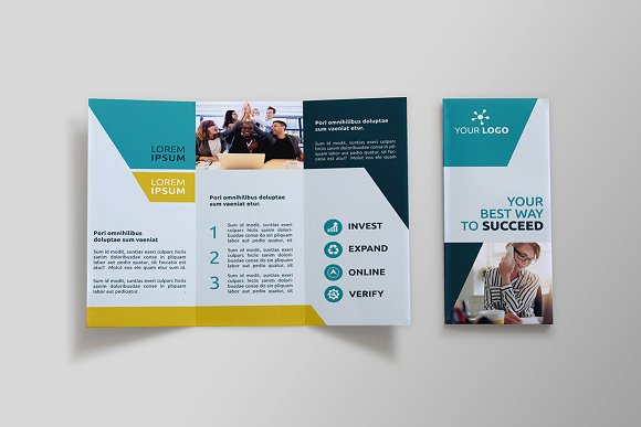 Business Trifold Brochure SK Brochure Templates Creative Market - Business tri fold brochure templates