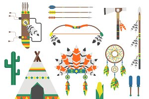 Indians icon temple ornament vector