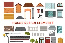 Family house vector design