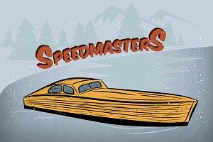 Speedmaster. boat show. Vector+