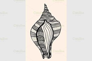 Sea Shell with abstract pattern
